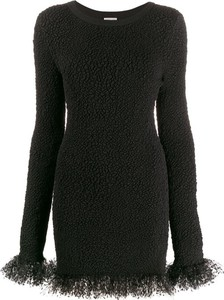 Sukienka SAINT LAURENT z długim rękawem mini