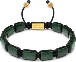 Nialaya Flatbead Collection - Green African Jade and Gold