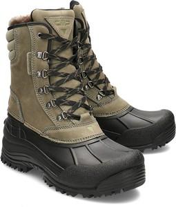 Buty zimowe CMP sznurowane ze skóry