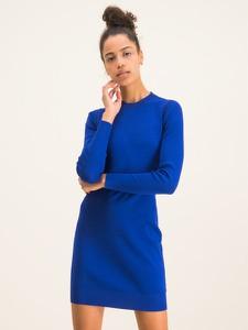 Niebieska sukienka Michael Kors w stylu casual z długim rękawem