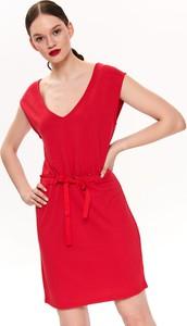 Czerwona sukienka Drywash z dzianiny