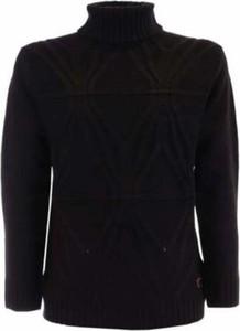Czarny sweter Yes Zee w stylu casual z wełny