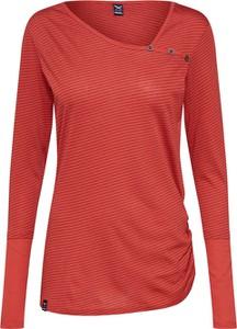 Czerwona bluzka Iriedaily z długim rękawem w stylu casual