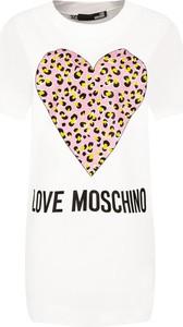 Sukienka Love Moschino mini w stylu casual prosta