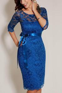 Niebieska sukienka Estera midi