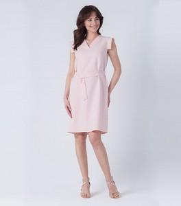 Różowa sukienka butik-choice.pl midi