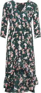 Sukienka bonprix RAINBOW asymetryczna z długim rękawem