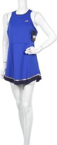 Niebieska sukienka New Balance mini bez rękawów