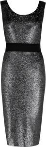 Sukienka Boutique Moschino z okrągłym dekoltem midi