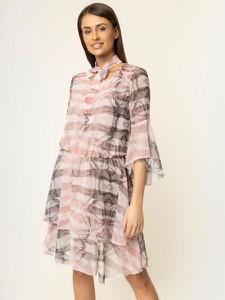 Sukienka Trussardi Jeans mini z długim rękawem koszulowa