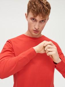 Czerwona koszulka z długim rękawem Cropp z długim rękawem