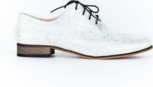 Półbuty Zapato sznurowane ze skóry w stylu boho