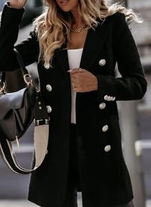 Czarny płaszcz Cikelly w stylu casual