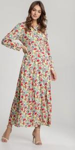 Sukienka Renee w stylu boho z długim rękawem maxi