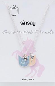 Sinsay - Zestaw naszyjników dla przyjaciółek BFF - Srebrny
