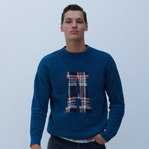 Niebieski sweter Reserved w młodzieżowym stylu