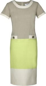 Sukienka Fokus z lnu z krótkim rękawem oversize