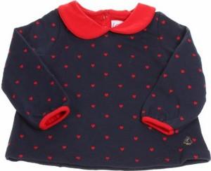 Czarna bluzka dziecięca Petit bateau z długim rękawem