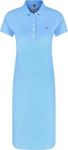 Sukienka Tommy Hilfiger z krótkim rękawem midi
