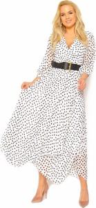 Sukienka Sukienki M&M kopertowa z długim rękawem