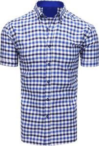 Koszula Dstreet z kołnierzykiem button down z krótkim rękawem