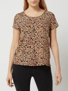 Brązowa bluzka Only z okrągłym dekoltem