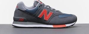 Niebieskie buty sportowe New Balance 574 sznurowane