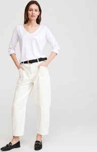 T-shirt Reserved z długim rękawem z bawełny w stylu casual