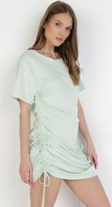 Sukienka born2be mini z krótkim rękawem dopasowana