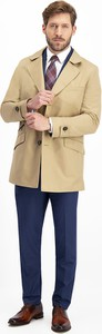 Żółty płaszcz męski Lavard z bawełny