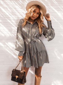 Sukienka SELFIEROOM w stylu casual w geometryczne wzory