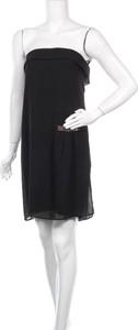Czarna sukienka Ikks z okrągłym dekoltem