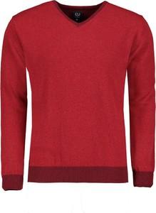 Czerwony sweter Lavard w stylu casual