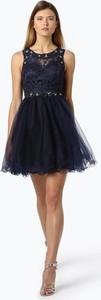 Granatowa sukienka Laona z tiulu rozkloszowana mini