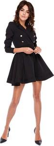 Czarna sukienka Made In Poland By Ooh La La w stylu retro rozkloszowana