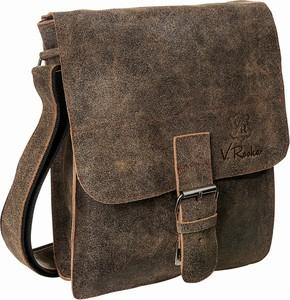 Brązowa torba V.rooka ze skóry