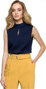 Bluzka Style z okrągłym dekoltem bez rękawów