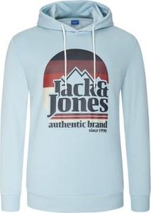 Niebieska bluza Jack & Jones z bawełny