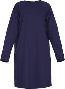 Niebieska sukienka Yuliya Babich z długim rękawem mini