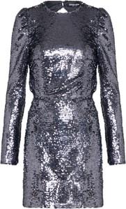 Srebrna sukienka Fashion Union z okrągłym dekoltem