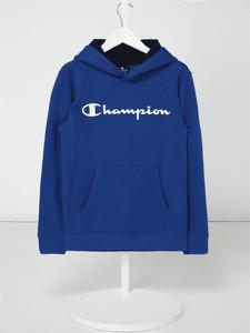 Niebieska bluza dziecięca Champion z bawełny