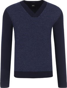 Sweter Boss z wełny w stylu casual