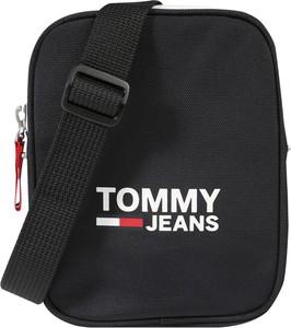 Czarna torebka Tommy Jeans w sportowym stylu na ramię średnia