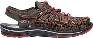 Brązowe buty letnie męskie Keen w sportowym stylu