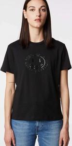 Czarny t-shirt Gas w młodzieżowym stylu