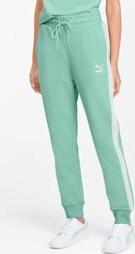 Zielone spodnie sportowe Puma z dresówki