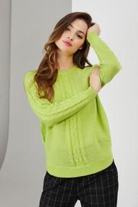 Zielony sweter Moodo w stylu casual