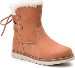 Pomarańczowe buty dziecięce zimowe Lasocki Kids sznurowane
