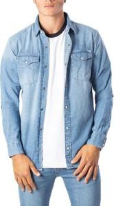 Niebieska koszula Jack Jones z długim rękawem