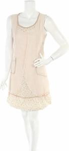 Sukienka L 33 z okrągłym dekoltem mini
